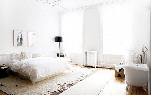 same-room bath and bed // pretty