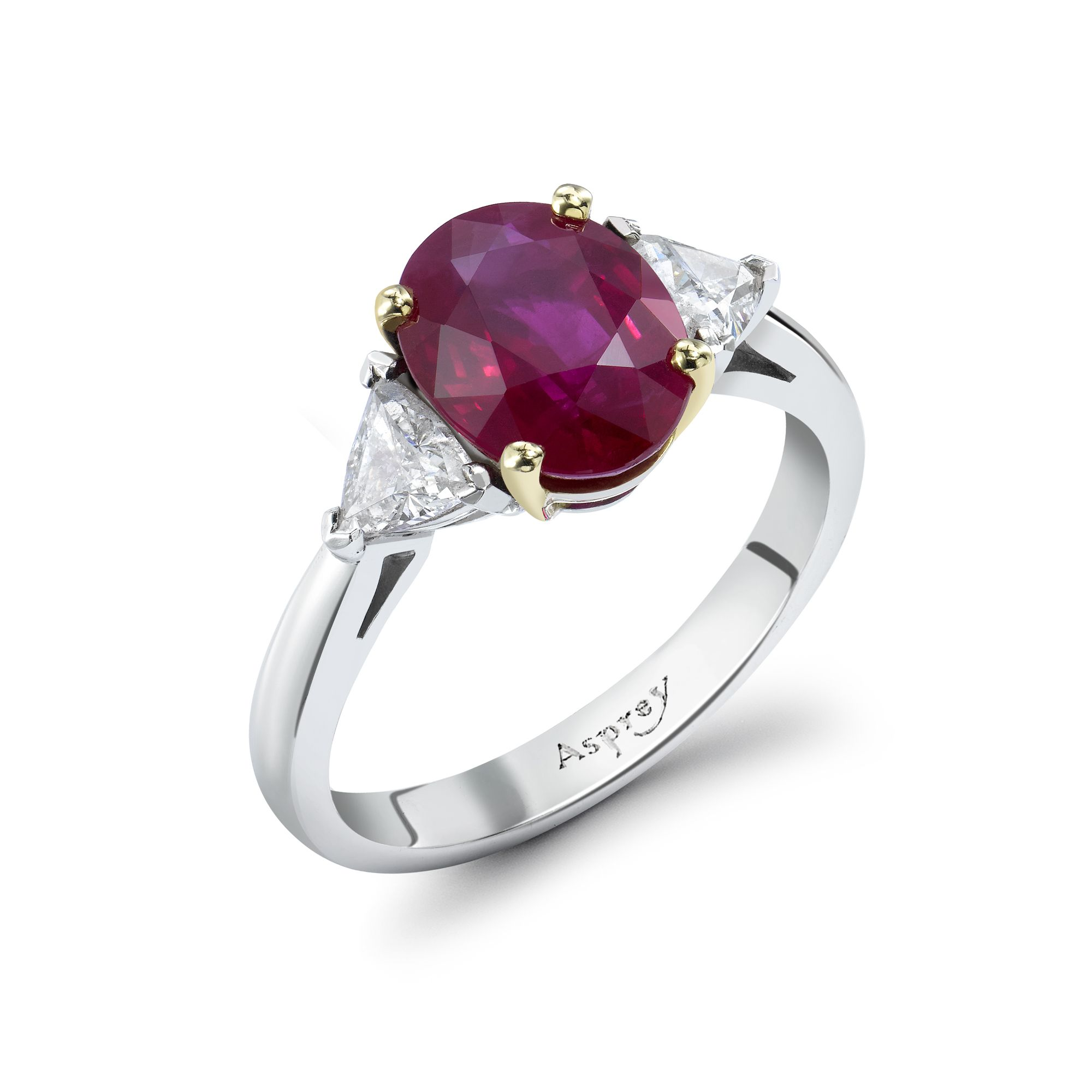 Oval Ruby Engagement Ring Asprey Colored engagement