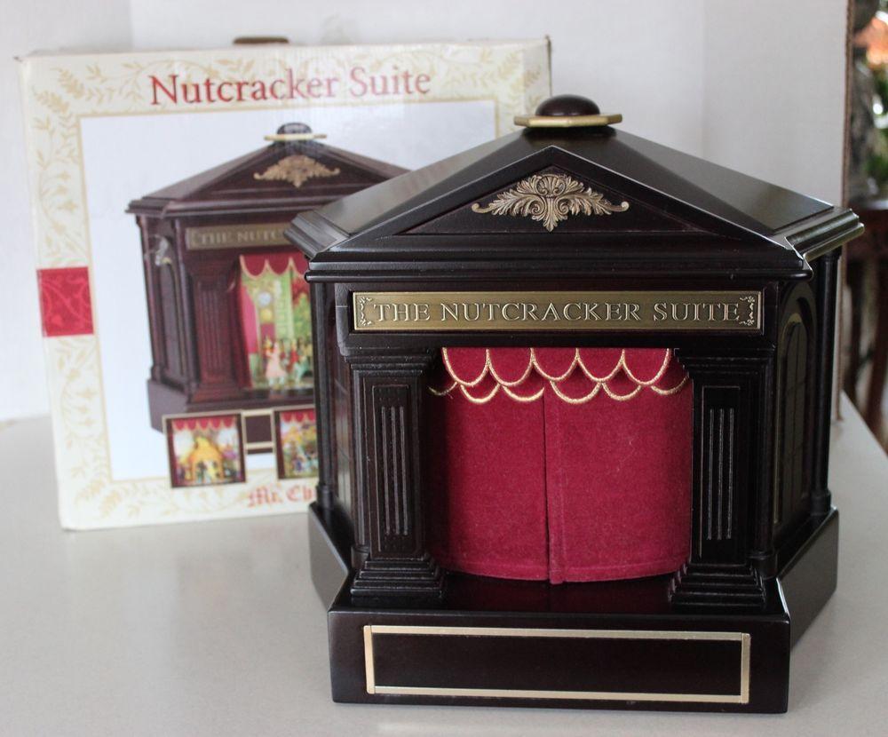 HTF Mr. Christmas Nutcracker Suite Animated Music Box Theater ...
