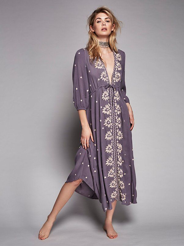 Mineral Blue Combo Embroidered Fable Dress at Free People Clothing Boutique 9d1c0e87b7