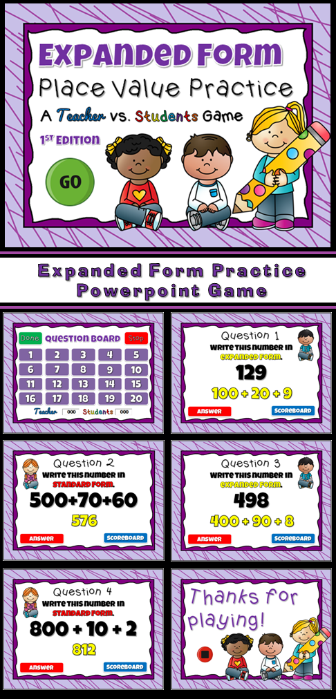 Expanded Form Practice Powerpoint Game Expanded Form Standard