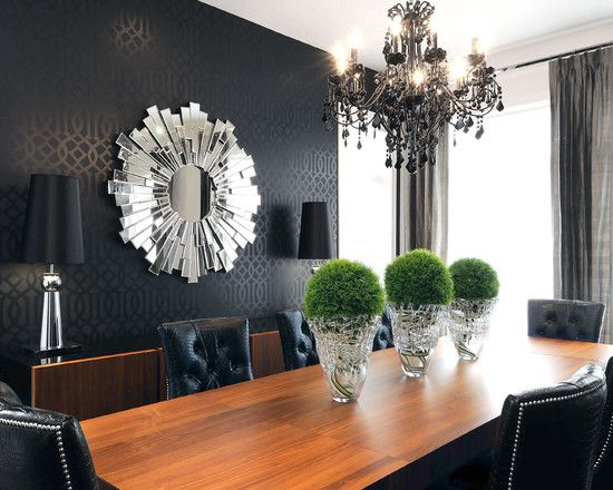 tone on tone wallcovering in blackvery dark charcoal grey reads