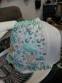 Custom L inspired hat one of a kind by BaDazzleMeDwn on Etsy, $50.00 I love the colour of this hat it is amazing xxxxx