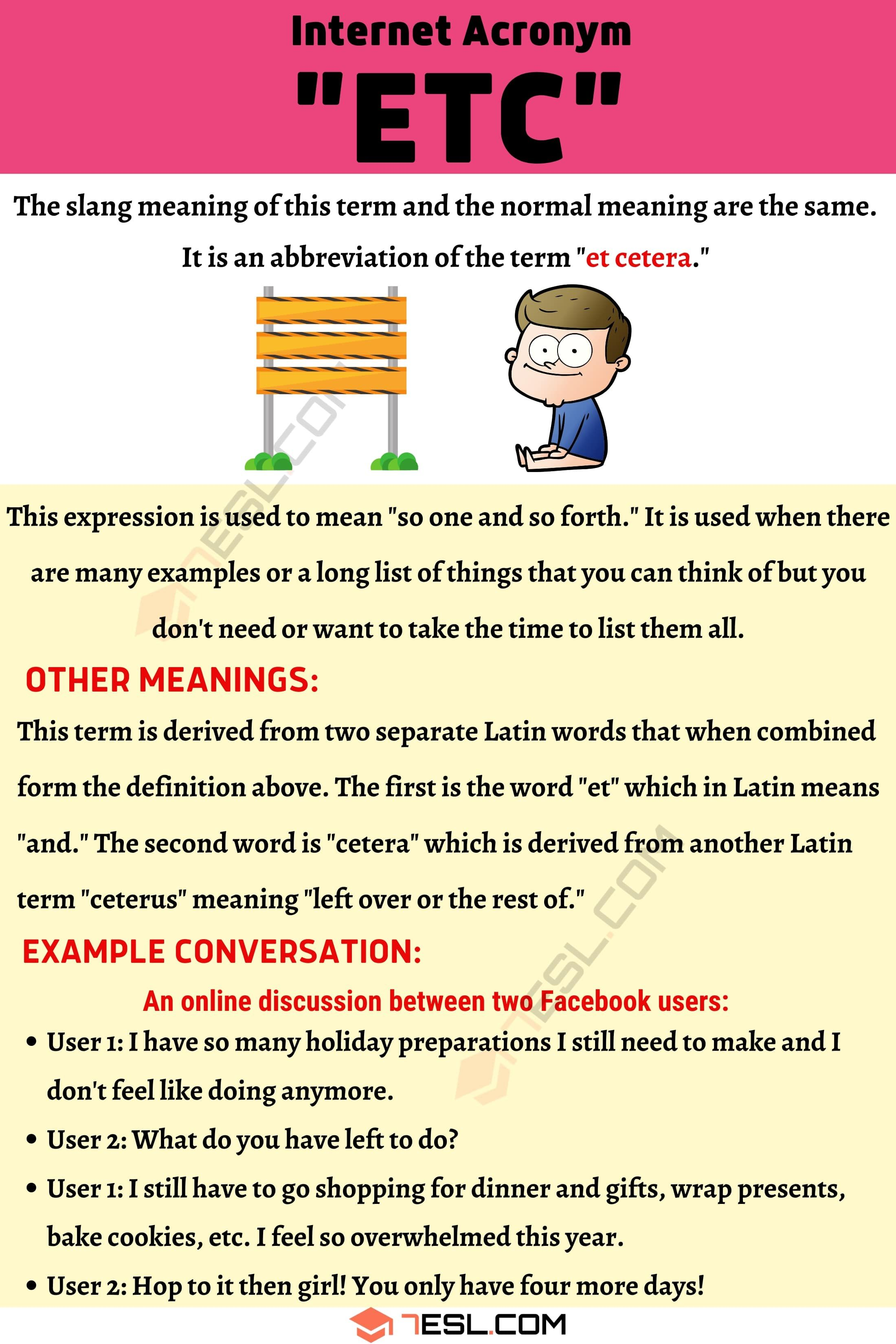 Etc Meaning How To Use The Popular Term Etc Correctly 7esl Slang Words Good Vocabulary Learn English How to read in english correctly