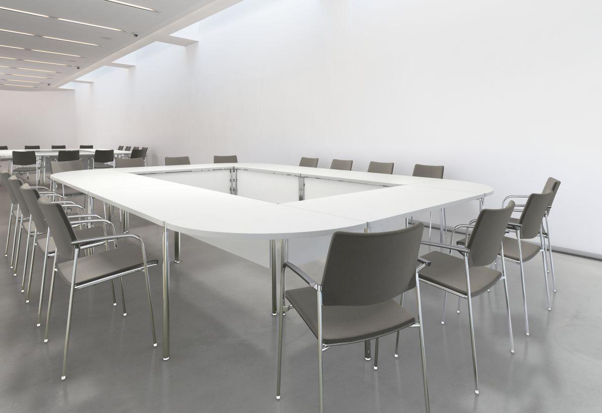 Brunner Lastlesssure Timeless Linkable Legged Tables In - Detachable conference table