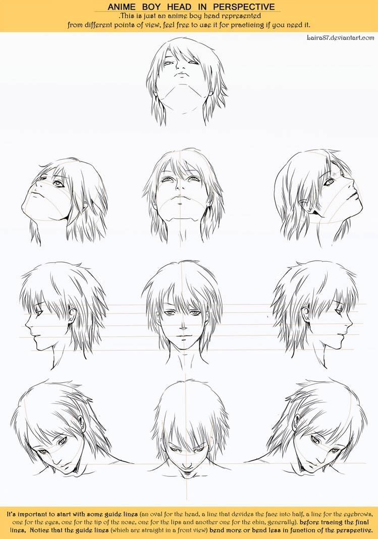 Anime Head Angles Perspective By Https Www Deviantart Com Lairam On Deviantart Anime Head Face Angles Head Angles