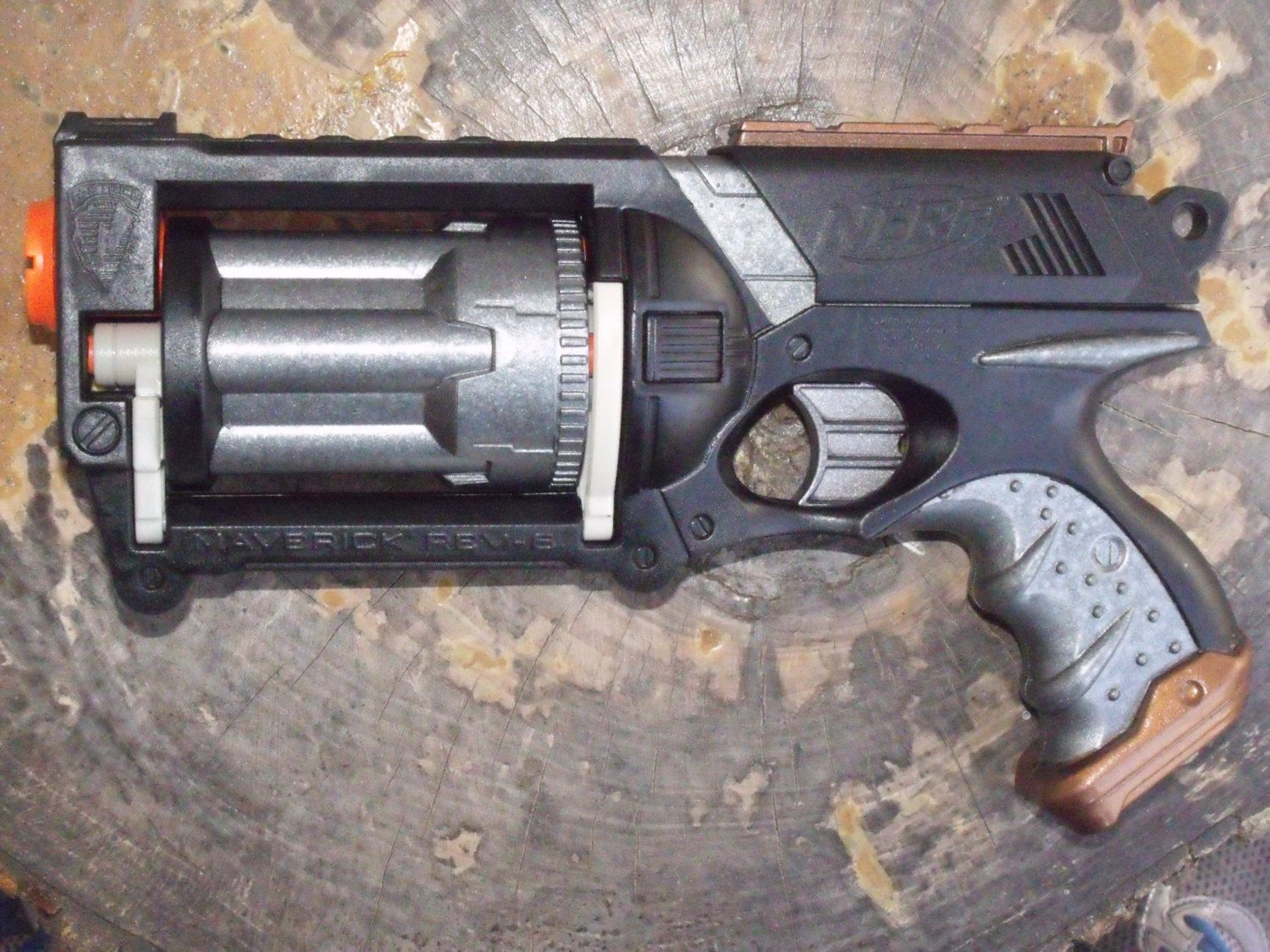 Etsy Transaction - Custom Painted/Modified Nerf Gun Blaster Maverick -  Black, Copper,