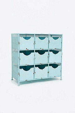 Metal Cabinet In Light Blue Armoire Metallique Petit Meuble Meuble Metal