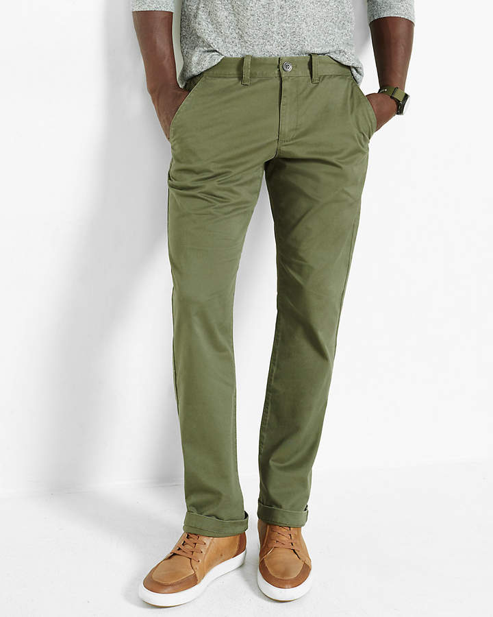 928a6261 Express Slim Fit Stretch Olive Chino | Products | Olive chinos ...