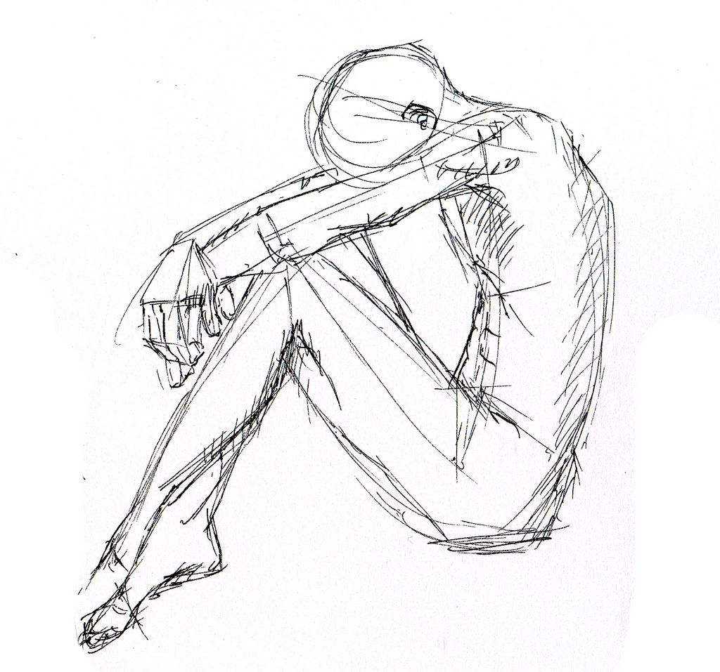 Images For Sad Sitting Pose Pose And Base Reference Drawing