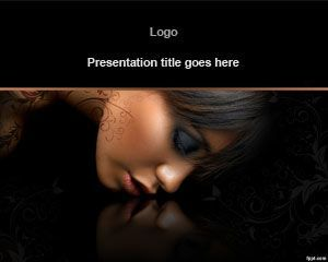 free beauty lady powerpoint template is a nice dark background, Powerpoint templates