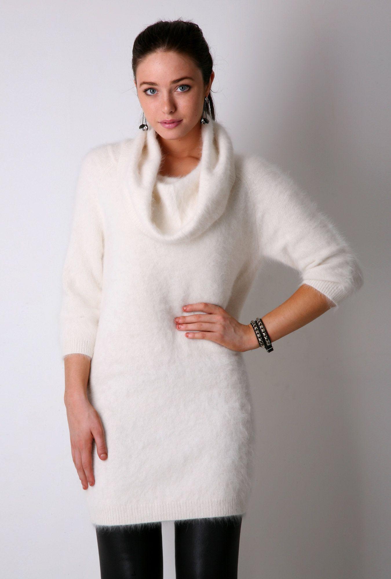 White-Angora-Cowl-Neck-Jumper-Dresses.jpg 1,350×2,000 pixels ...