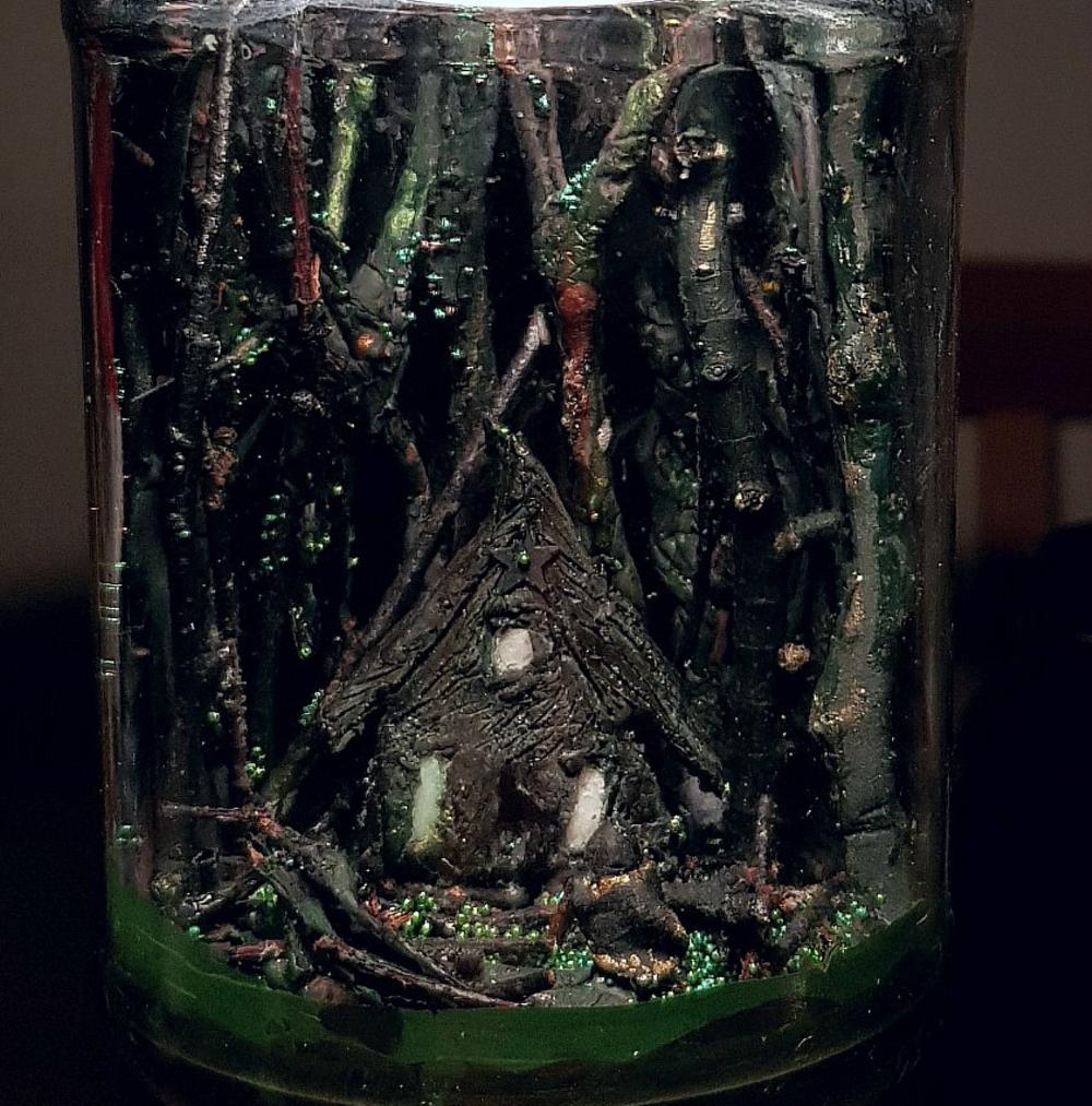 OOAK Witch Cottage in the Woods. Diorama Nightlight Handmade | Etsy #witchcottage