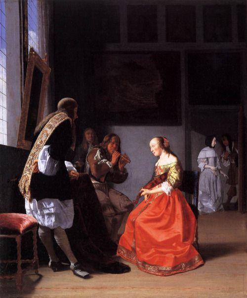 ab. 1670 Jacob Ochtervelt - Musical Company in an Interior