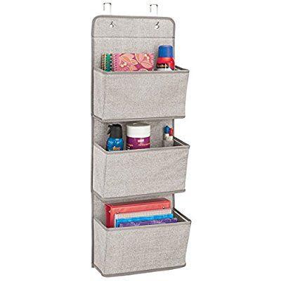 mdesign schrank organizer in chevron muster h ngeorganizer mit 3 f chern aus atmungsaktivem. Black Bedroom Furniture Sets. Home Design Ideas