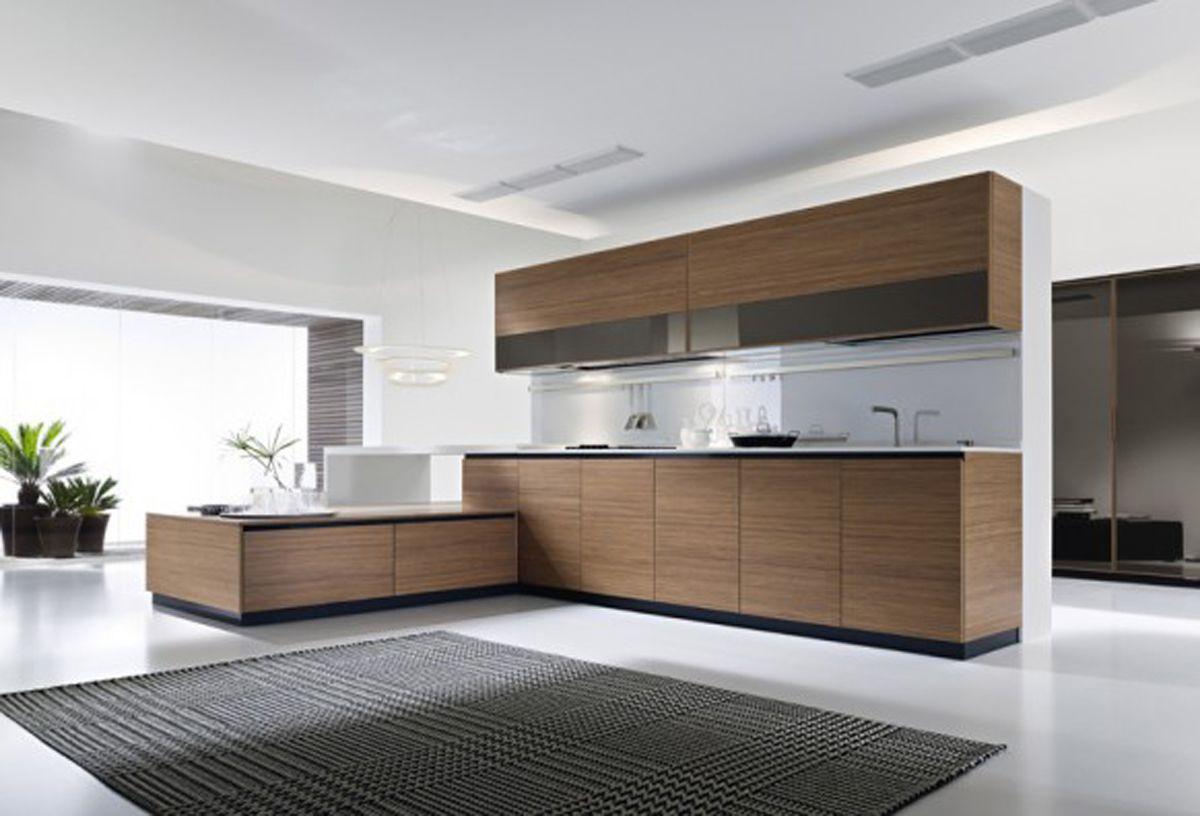 Wonderful White Modular Kitchen Interior Design Concept With Wooden Kitchen    Interior Design