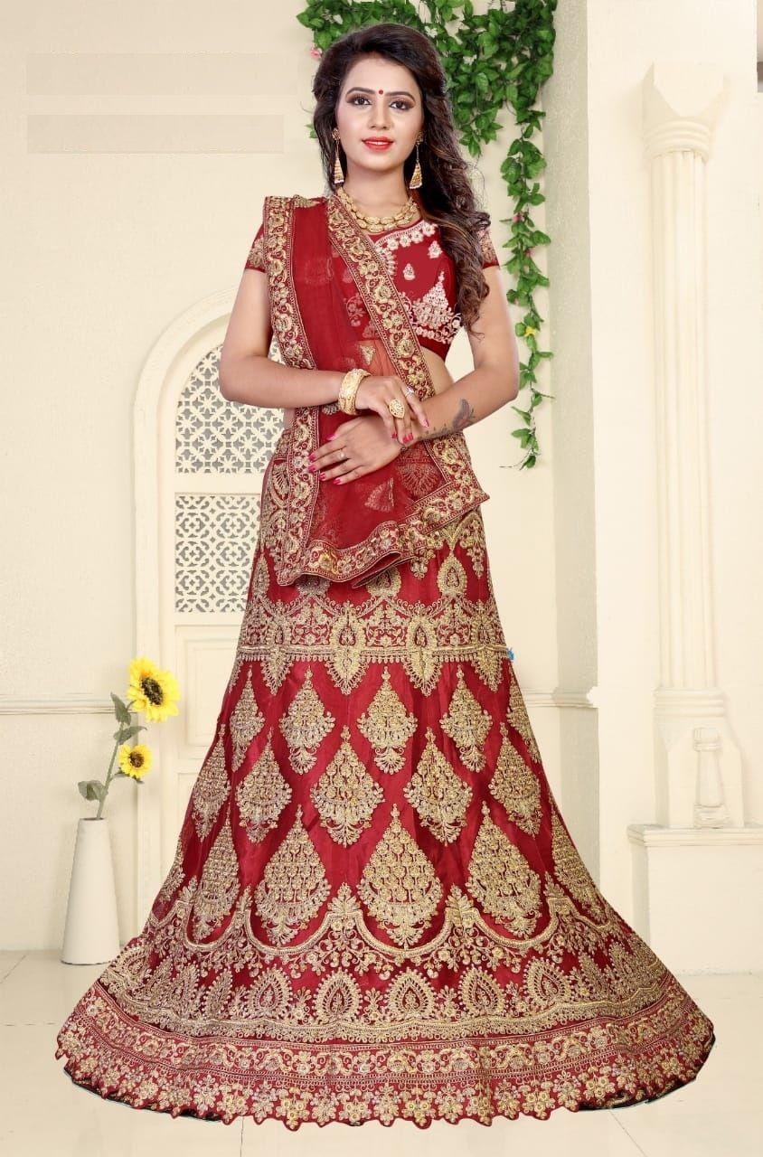 Buy Women S Bangalore Silk Semi Stitched Lehenga Choli Online At Low Prices In India On Wins With Images Lengha Choli Online Designer Lehenga Choli Lehenga Choli