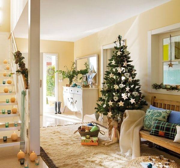 Ideas para decorar recibidores para Navidad. Decoración navideña ...