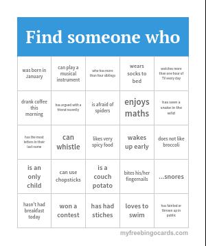 Myfreebingocards Com Free Printable And Virtual Human Bingo Cards And Games Human Bingo Bingo Card Generator Bingo Cards Printable