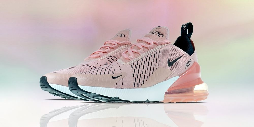 promo code 1c7bd cfe07 NIKE AIR MAX 270 Coral Stardust/Black/White Pink Womens New ...