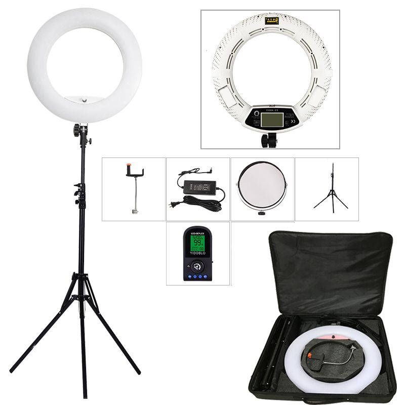 Yidoblo White FE-480II 5500K Dimmable Camera Photo/Studio/Phone ...