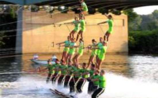 The U.S. Water Ski Show Team and Cardboard Float-Off is this weekend in Long Lake!