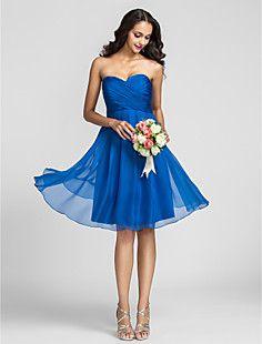 A-line Sweetheart Knee-length Chiffon Bridesmaid Dress (7221... – USD $ 117.59