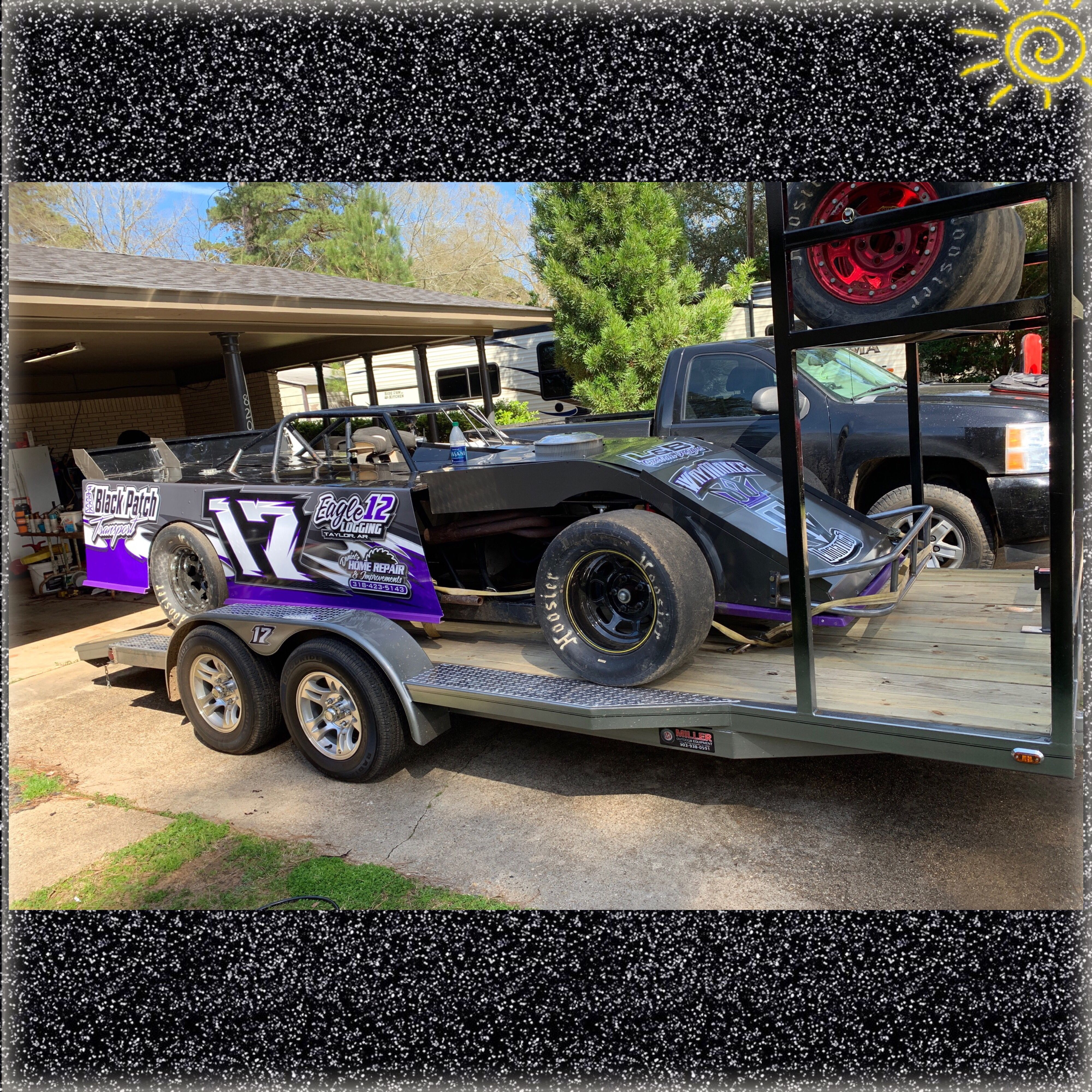 Locked Loaded Ready To Race Custom Trailers Trailer Tires Tire Rack