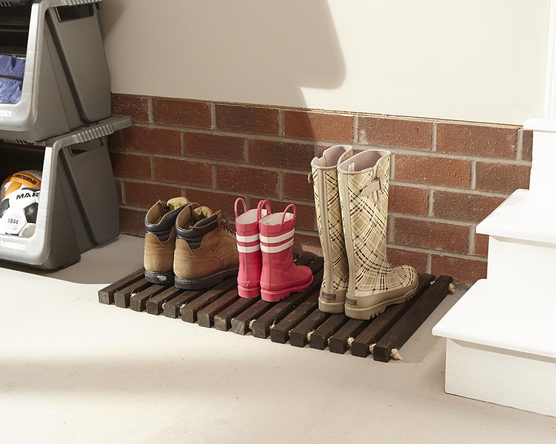 DIY Wooden Door Mat by The Home Depot   Wood You?   Pinterest