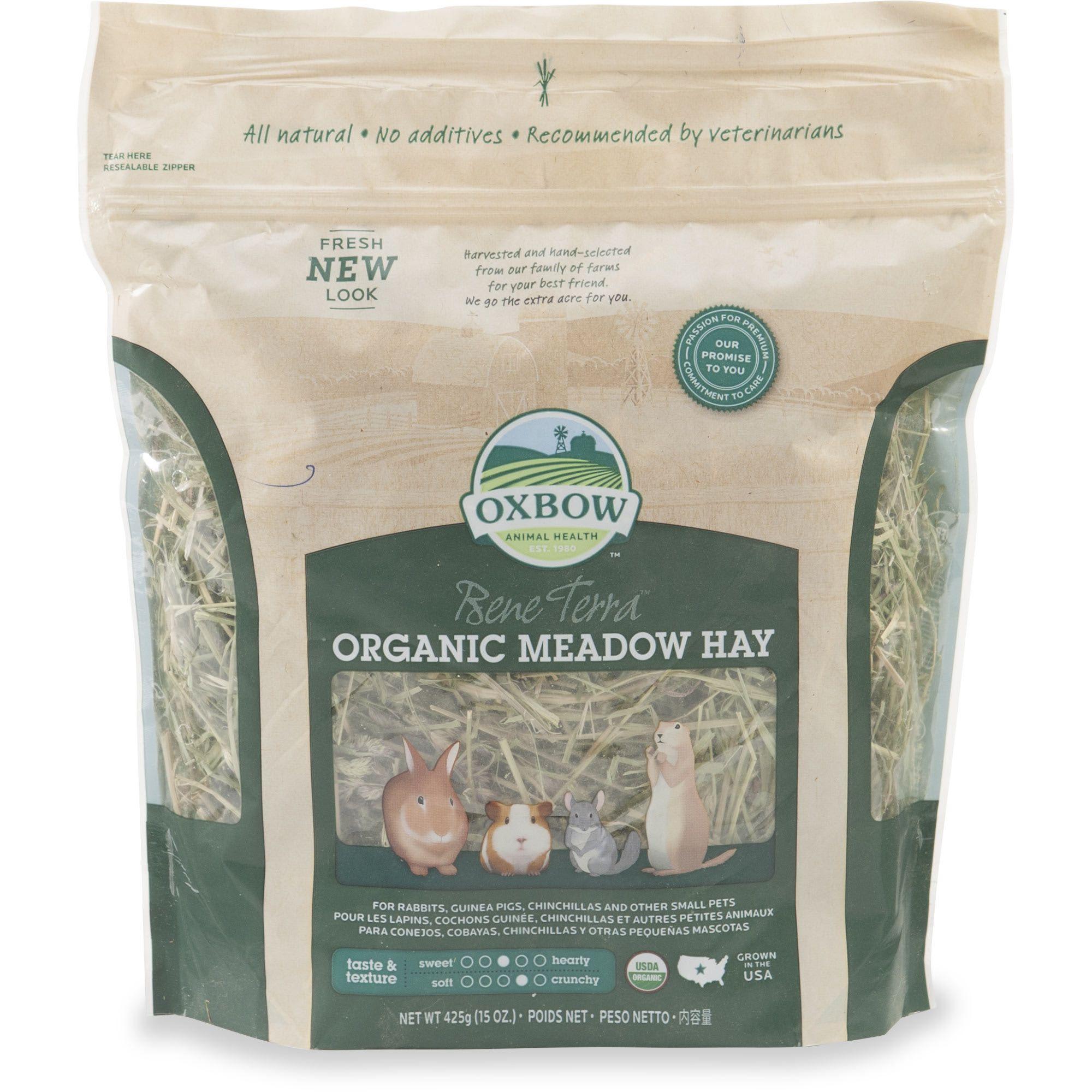 Oxbow Organic Meadow Hay 15 Oz Organic Wild Bird Food Grass Hay