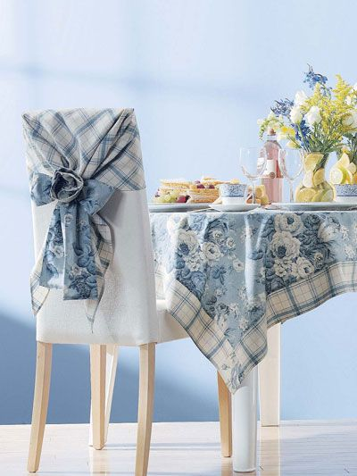 Tea Rose Tablecloth And Chair Covers Free Sewing Pattern Of The Day From Freepatterns Dining Room