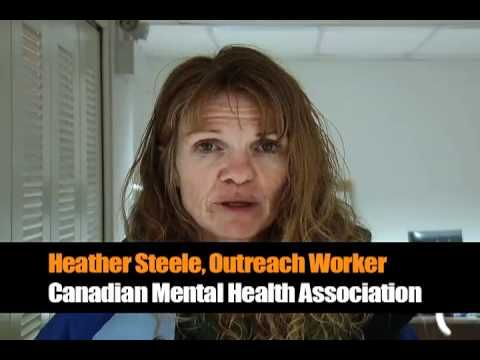 One of the incredible Outreach Workers at CMHA Simon Fraser Branch, Heather Steele