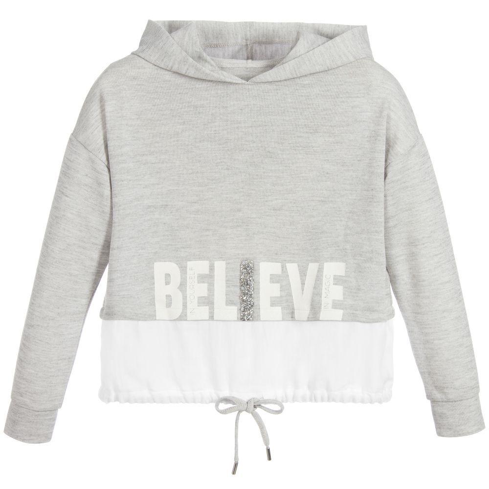 Mayoral Grey Hooded Active Sweatshirt at