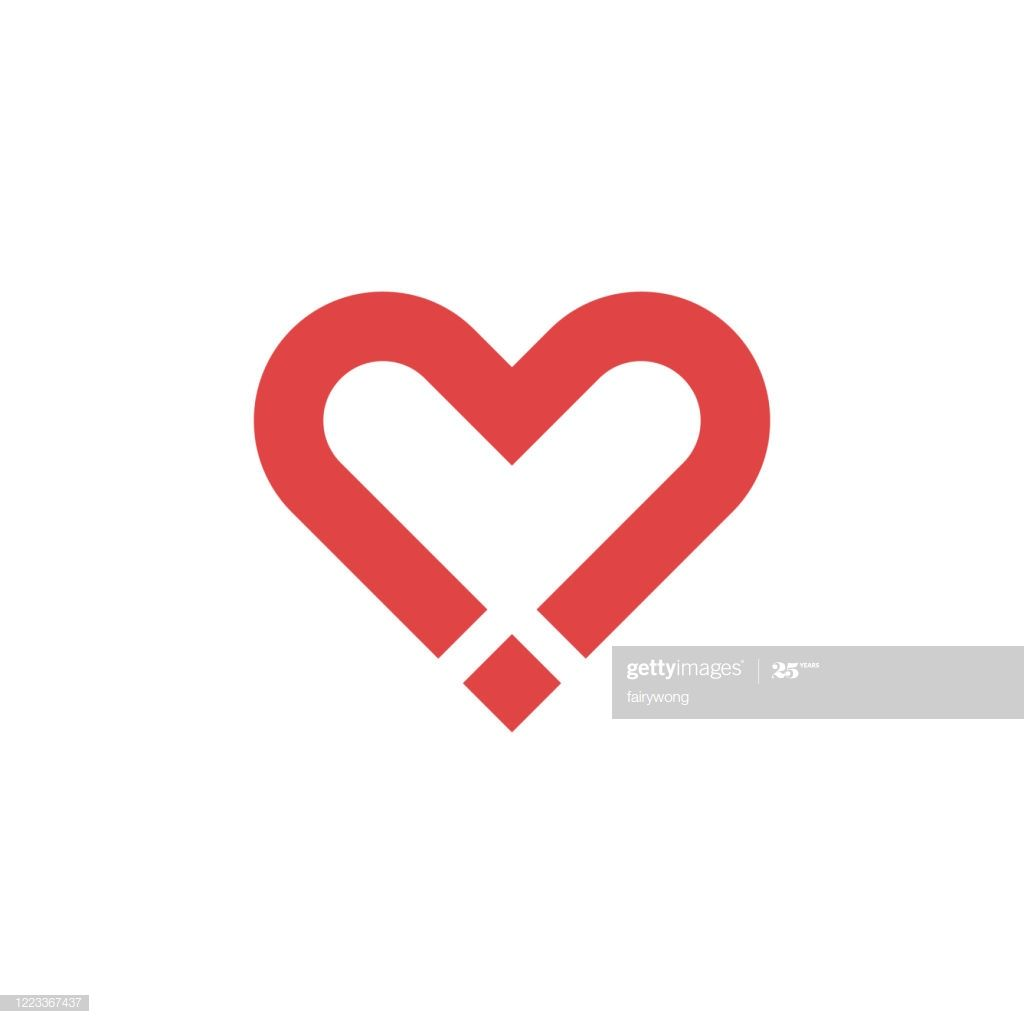 Heart Icon Love Concept Vector Illustration Business Card Template Word Heart Icons Vector Illustration