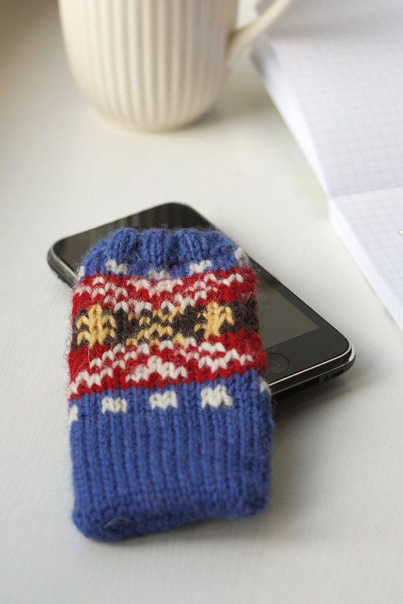 Fair Isle iPhone Sock - PDF knitting pattern | Fair isles ...