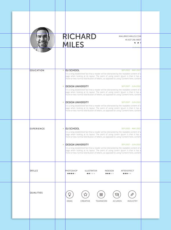 Clean Resume++ Resume design, Resume design creative