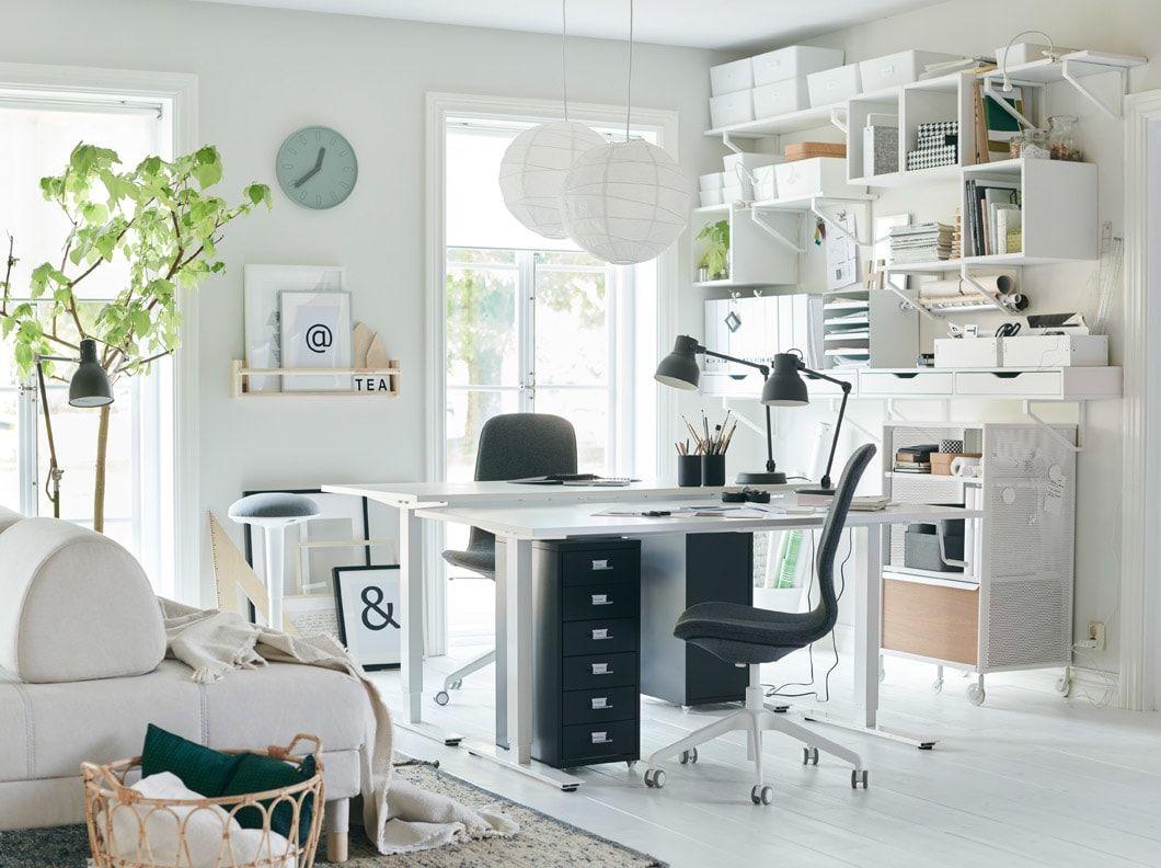Office inspiration  Ikea home office, Home office design, Ikea home