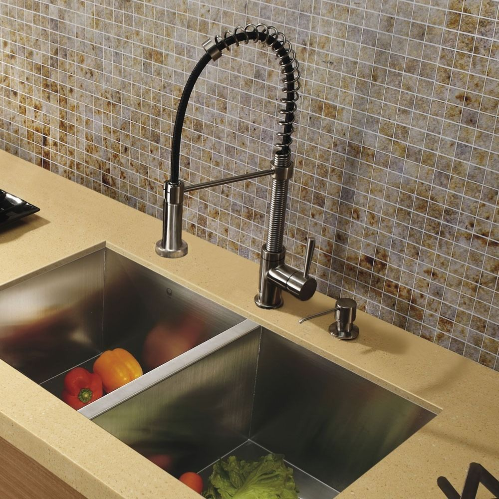 This Vigo Stainless Steel Pull Out Kitchen Faucet Is A Beautiful Addition  To Your Kitchen