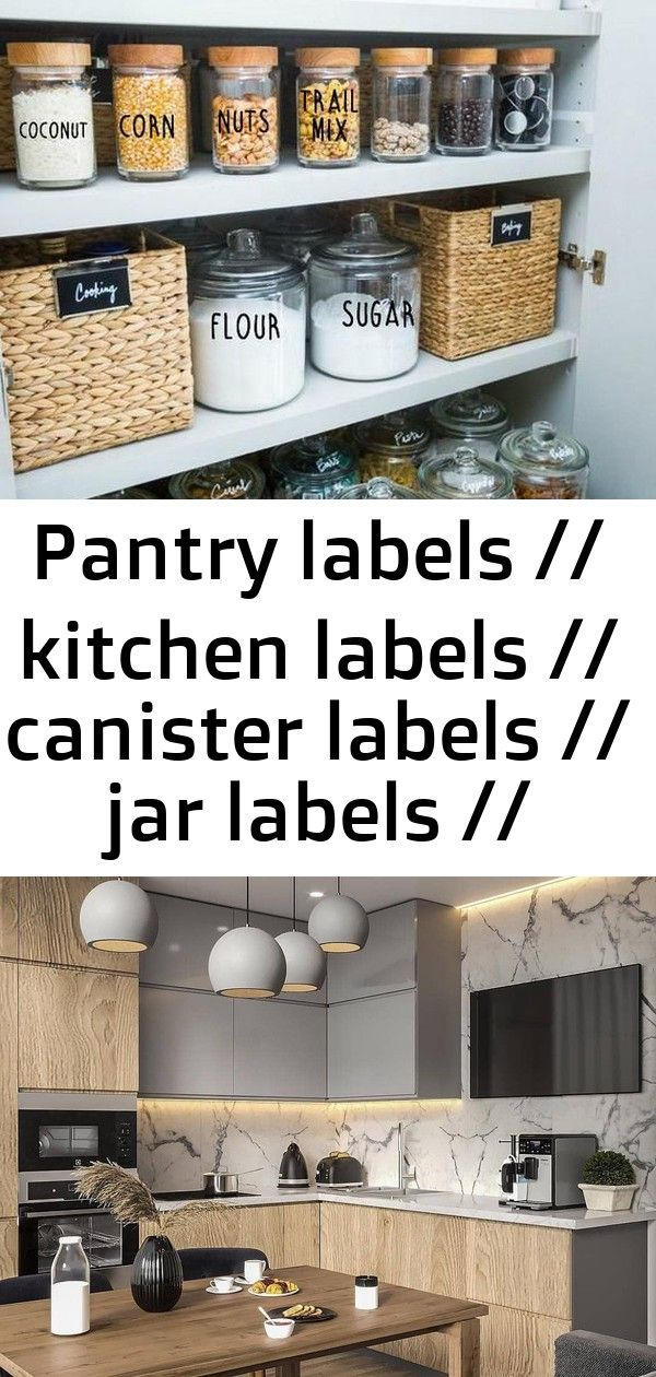 Pantry labels // kitchen labels // canister labels // jar labels // custom decals // vinyl decals 7 #plateracks