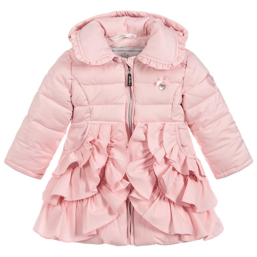 7568c400a646 Le Chic Baby Girls Pink Puffer Coat at Childrensalon.com #babycoats ...