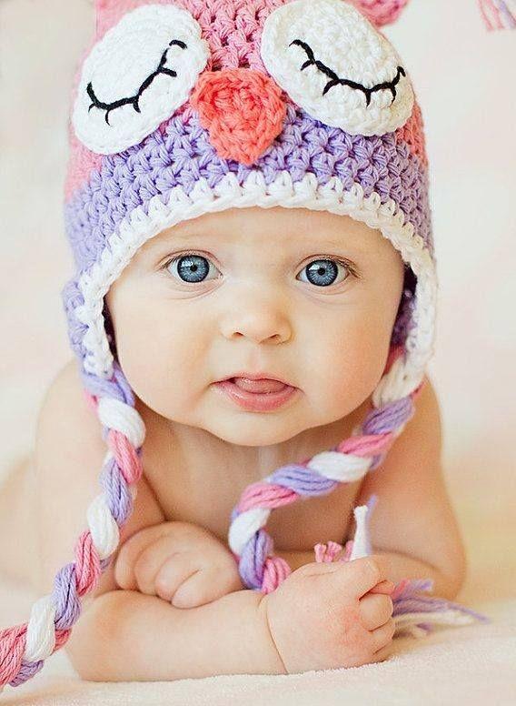 Owl Hat Crochet Pink Owl Hat Sleepy Owl Hat Newborn Owl Etsy Crochet Owl Hat Crochet Hats Crochet Baby Hats