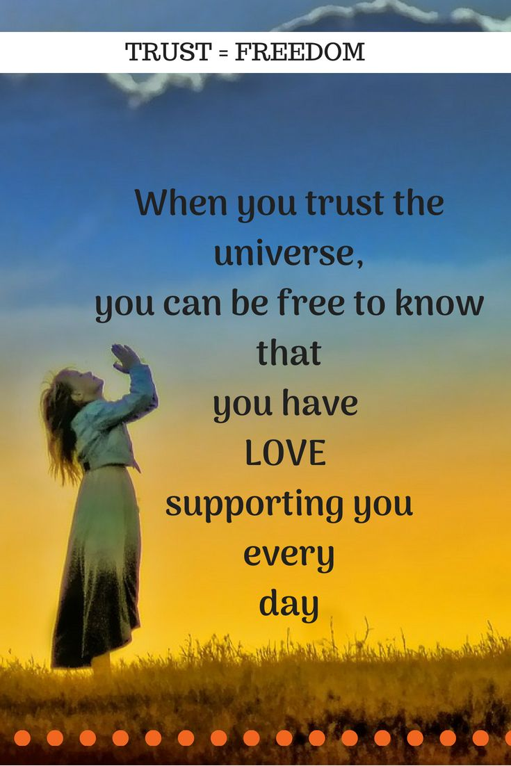 You can let go and allow yourself to believe that you are