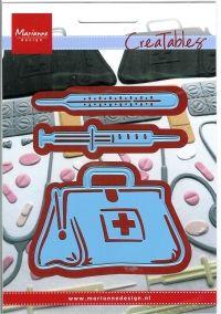 Fru Hansen 58kr lægetaske, termometer og sprøjte, lr0363, marianne design