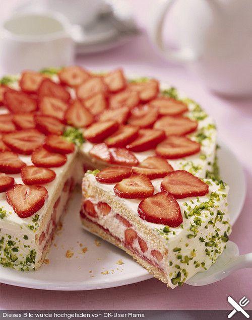 Vanille Erdbeer Torte Torte Pinterest Erdbeer Torte
