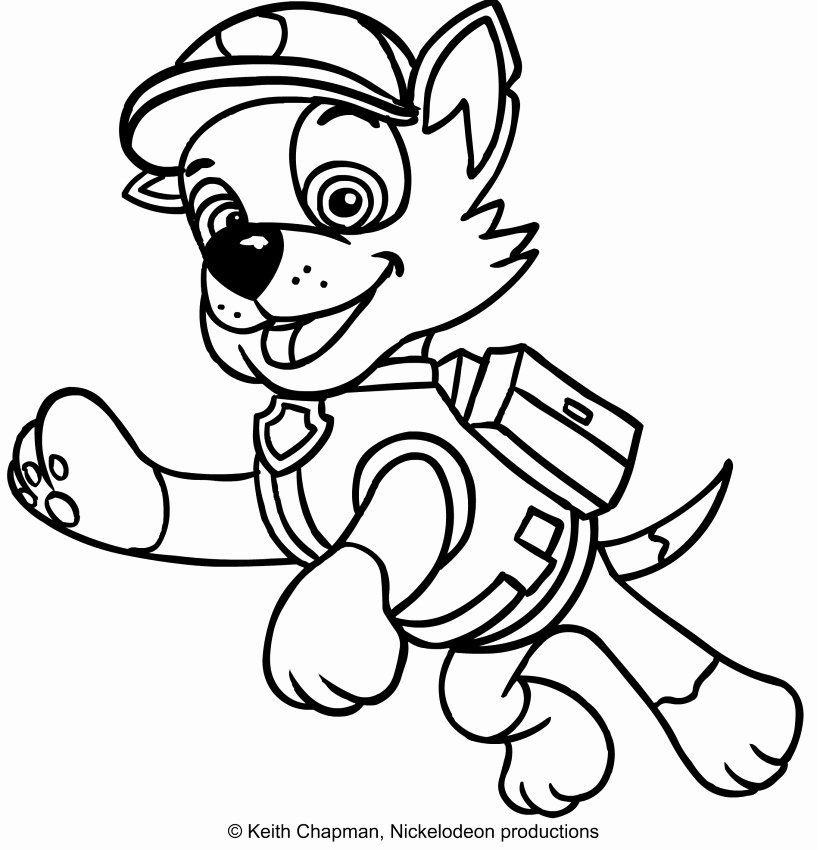 Rocky Paw Patrol Coloring Page Inspirational Rocky Paw ...
