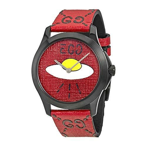 743ae59022b Gucci Ghost G-Timeless Red with UFO Motif Dial Mens Rubber Watch  YA1264023.Black