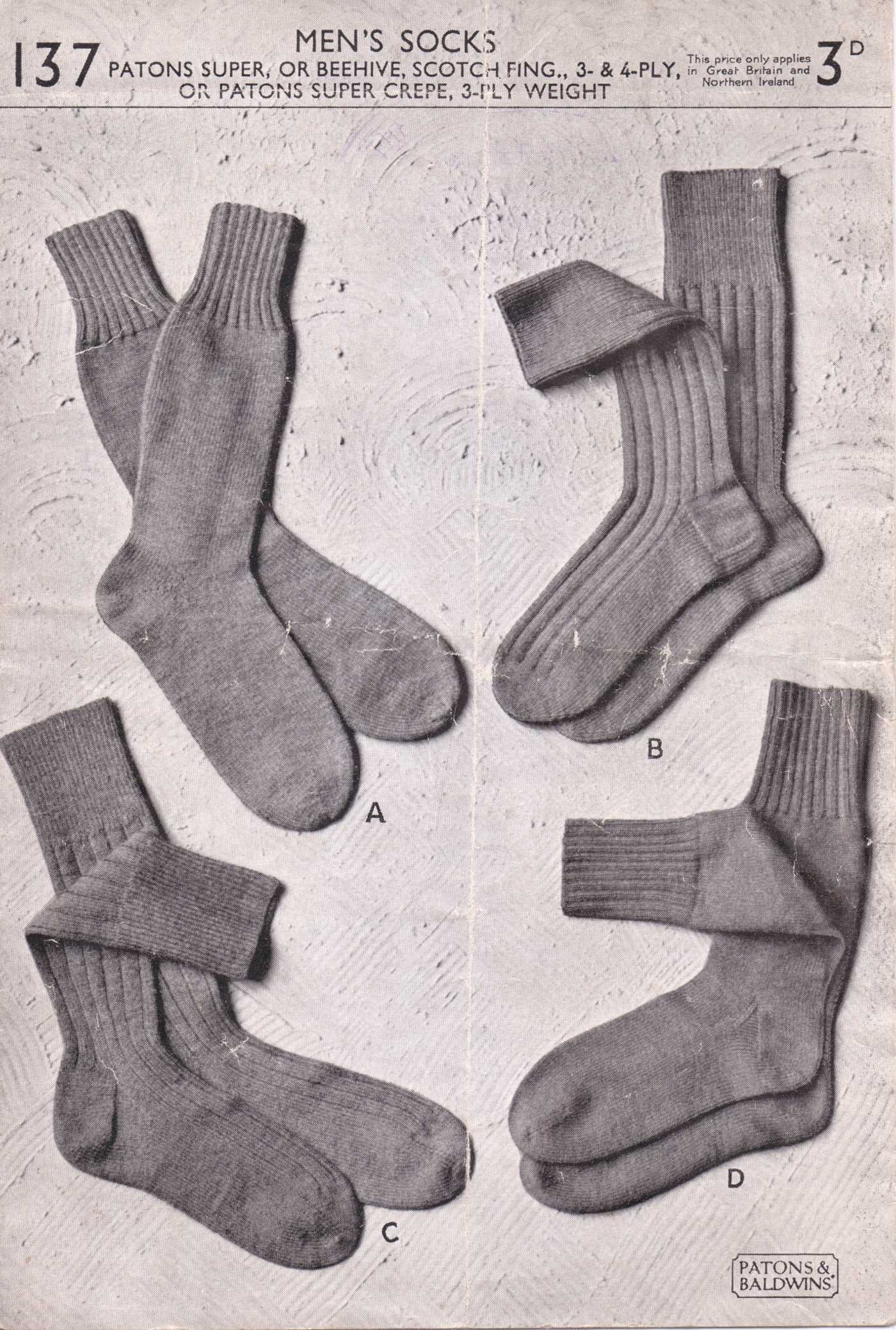 men\'s socks free knitting pattern | Projects to Try | Pinterest