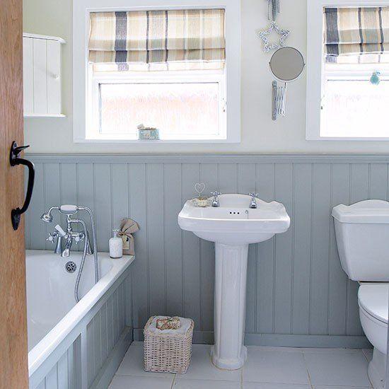 Wohnideen Country graue und weiße land bad mit wand wohnideen badezimmer living