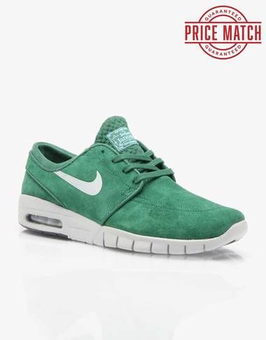 quality design c716a 03513 Nike SB Stefan Janoski Max Suede Shoes - Gorge GreenSilver - RouteOne.co