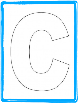 preschool letter craft for letter c alphabet letter c template and
